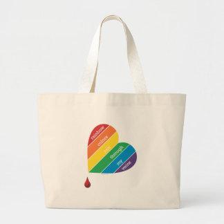 El arco iris colorea el tote enorme bolsas de mano
