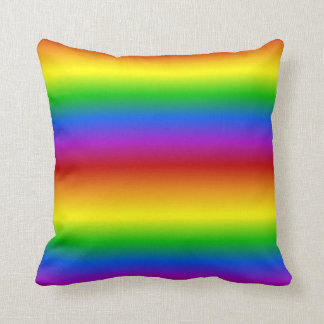 El arco iris colorea la almohada de tiro de encarg