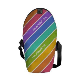 El arco iris colorea la bolsa de mensajero de enca bolsa de mensajeria