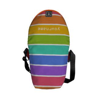El arco iris colorea la bolsa de mensajero de enca bolsa messenger