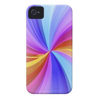 El arco iris colorea la caja de Blackberry iPhone 4 Case-Mate Cárcasas