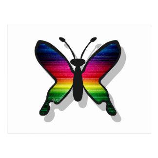 El arco iris colorea la mariposa postales