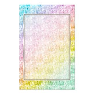 El arco iris colorea los efectos de escritorio papelería personalizada
