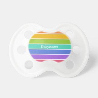 El arco iris colorea pacificadores de encargo chupete de bebe