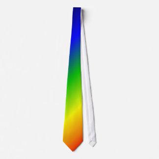 El arco iris colorea rojo diagonal implica corbata personalizada