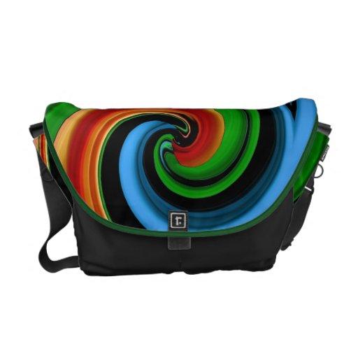 El arco iris colorido abstracto remolina la bolsa  bolsa de mensajeria