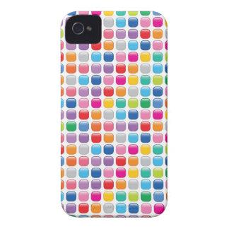 El arco iris colorido del arte del mosaico puntea iPhone 4 Case-Mate protector