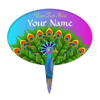 El arco iris colorido del pavo real colorea el páj decoraciones para tartas