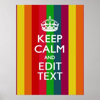 El arco iris colorido guarda calma y su póster