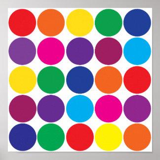 El arco iris colorido intrépido brillante circunda póster