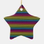 El arco iris colorido raya los regalos del modelo  ornaments para arbol de navidad
