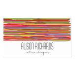 El arco iris colorido simple raya diseño interior tarjeta de visita