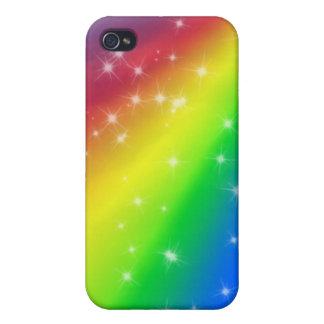 El arco iris colorido y el chispear protagoniza el iPhone 4 fundas