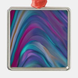 El arco iris congriega la línea de productos adorno navideño cuadrado de metal