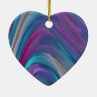 El arco iris congriega la línea de productos adorno navideño de cerámica en forma de corazón