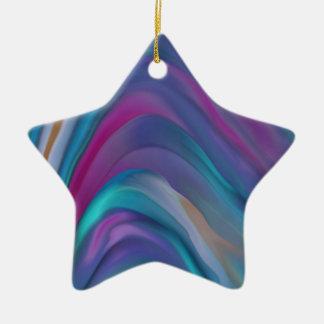 El arco iris congriega la línea de productos adorno navideño de cerámica en forma de estrella