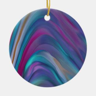 El arco iris congriega la línea de productos adorno navideño redondo de cerámica