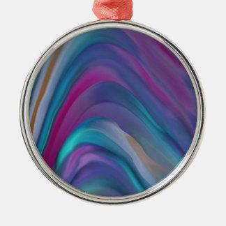 El arco iris congriega la línea de productos adorno navideño redondo de metal