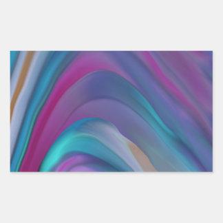 El arco iris congriega la línea de productos rectangular pegatinas