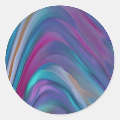 El arco iris congriega la línea de productos pegatina redonda