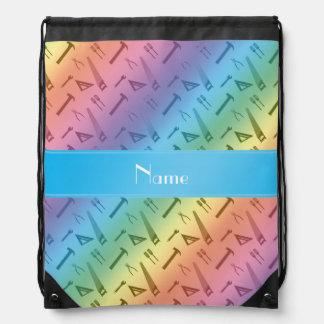El arco iris conocido personalizado equipa el mochila