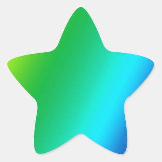 el arco iris crea para requisitos particulares pegatina en forma de estrella