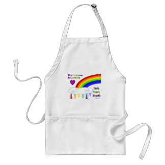 El arco iris cuida el delantal