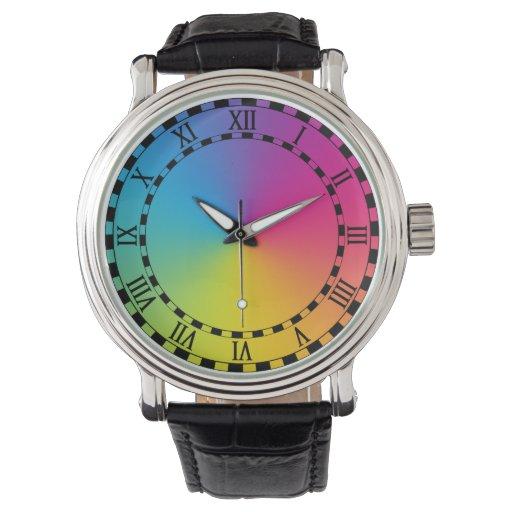 el arco iris de esperar relojes