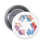 El arco iris de la acuarela recicla el botón ls