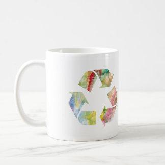 El arco iris de la acuarela recicla la P.M. de la Tazas De Café