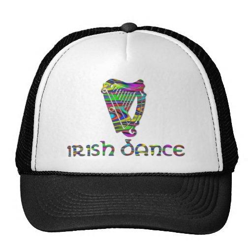 El arco iris de la danza del irlandés colorea la gorros bordados
