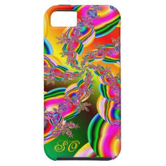 El arco iris de la fantasía ata fractal iPhone 5 carcasas