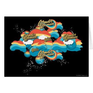 El arco iris de la Mujer Maravilla se nubla 1 Tarjeta De Felicitación
