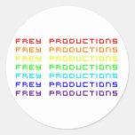 El arco iris de las producciones de Frey pone Pegatina Redonda