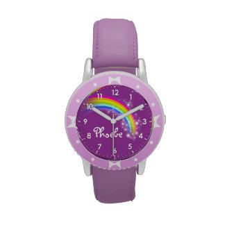 El arco iris de los chicas de la diversión añade s reloj de mano