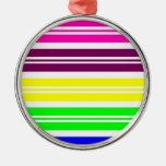 El arco iris de neón colorido raya el modelo ornamente de reyes