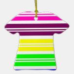 El arco iris de neón colorido raya el modelo ornamentos para reyes magos