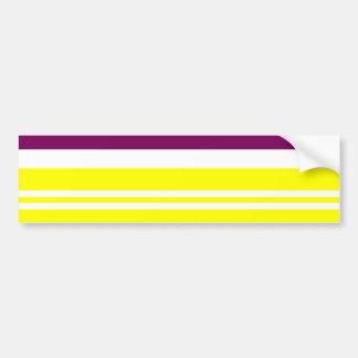 El arco iris de neón colorido raya el modelo intré pegatina para auto