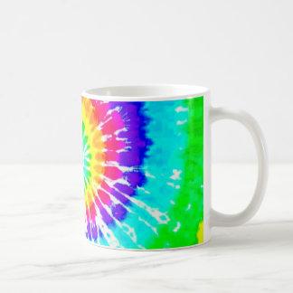 El arco iris de neón del remolino del arco iris taza clásica
