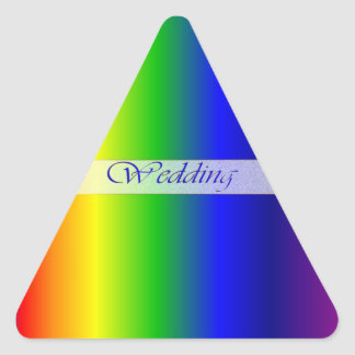 El arco iris del boda colorea al pegatina del