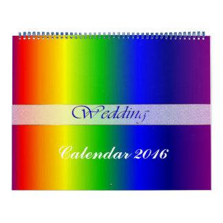 El arco iris del boda de 2016 calendarios colorea