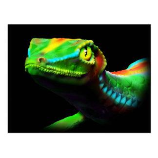 El arco iris del lagarto del Gecko colorea las pos Postales