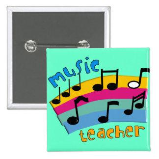 El arco iris del profesor de música observa los re pin cuadrada 5 cm