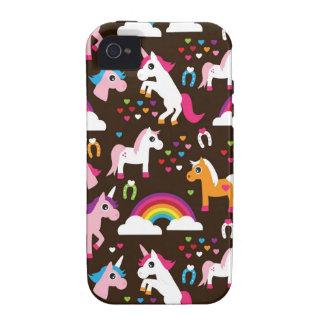 el arco iris del unicornio embroma el caballo del  iPhone 4/4S carcasas