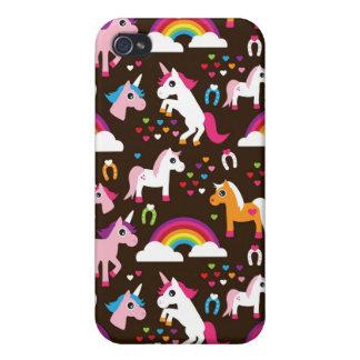 el arco iris del unicornio embroma el caballo del  iPhone 4 protector