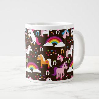 el arco iris del unicornio embroma el caballo del taza de café gigante