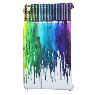 El arco iris derretido dibuja con creyón caso de l iPad mini protector