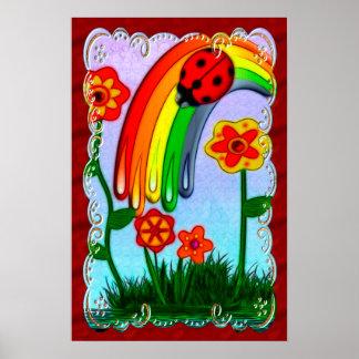 El arco iris desea el arte de Childs del cuarto de Póster