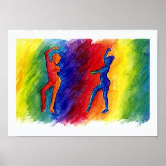 El arco iris desgasifica la impresión del poster