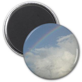 ¡El arco iris, dios está para nosotros! Imán Redondo 5 Cm